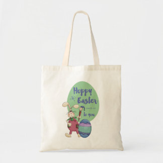 Hoppy Easter to you Artist Bunny Tote Bag