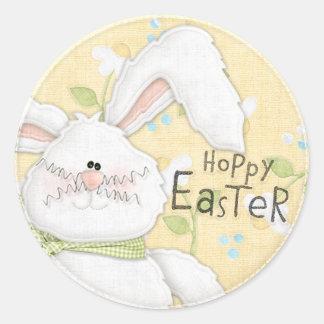 Hoppy Easter - White Bunny Sticker