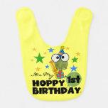 Hoppy Frog 1st Birthday Bib