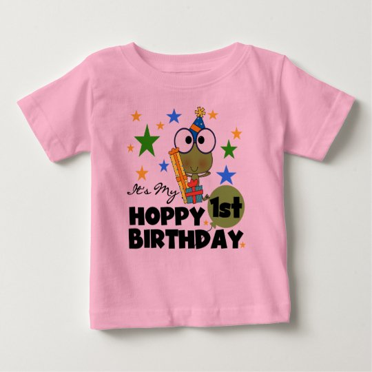 Hoppy Frog 1st Birthday T shirts and Gifts
