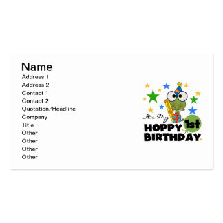 Hoppy Frog 1st Birthday T shirts and Gifts Business Card