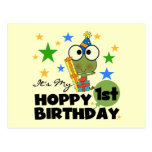 Hoppy Frog 1st Birthday T shirts and Gifts Postcard