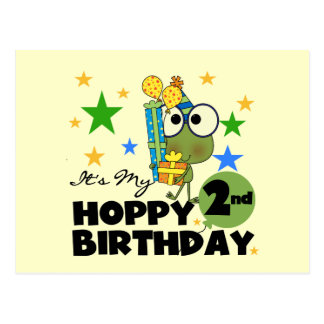 Hoppy Frog 2nd Birthday T-shirts and Gifts Postcard