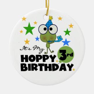 Hoppy Frog 3rd Birthday Tshirts and Gifts Christmas Tree Ornament