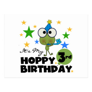 Hoppy Frog 3rd Birthday Tshirts and Gifts Postcard