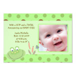 HOPPY FROG Baby Photo birth Announcement