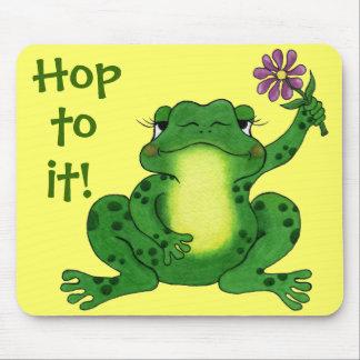 Hoppy Frog & Flower - Mousepad