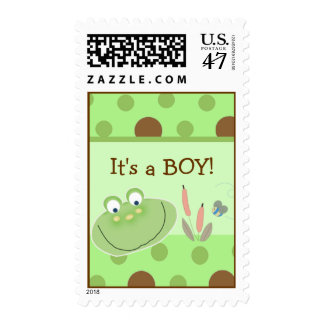 HOPPY FROG Froggy Green Postage Stamp