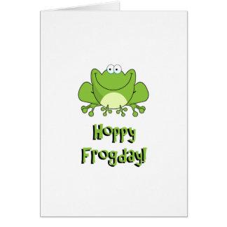Hoppy Frogday! Happy Friday Frog Card