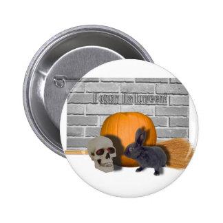 hoppy halloween 2 inch round button