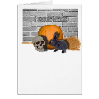 hoppy halloween greeting card