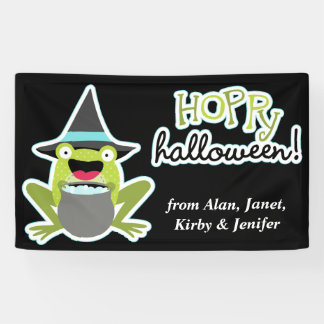 Hoppy Halloween Frog Personalized Banner