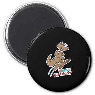 hoppy happy birthday kangaroo refrigerator magnet