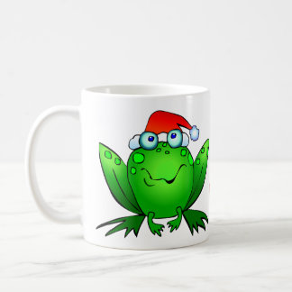 Hoppy Holidays Cartoon Frog Mug