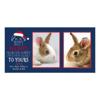 Hoppy Holidays Christmas Rabbit Pet Photocard Card