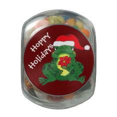 Hoppy Holidays Frog - Candy Jar Jelly Belly Candy Jar at Zazzle