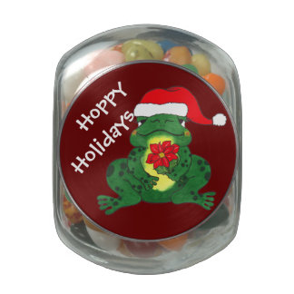 Hoppy Holidays Frog - Candy Jar Jelly Belly Candy Jar