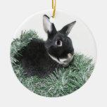 Hoppy Holidays Double-Sided Ceramic Round Christmas Ornament