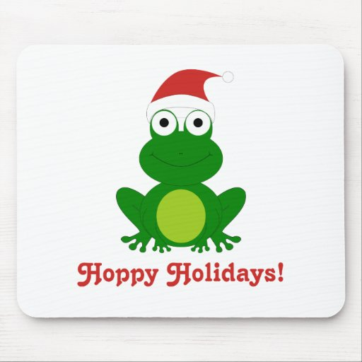Hoppy Holidays Santa Frog Mouse Pad