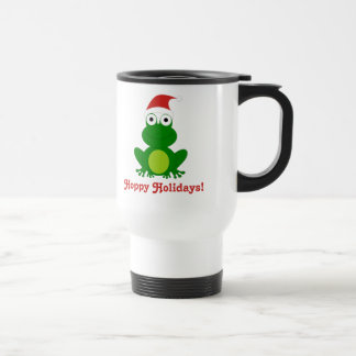 Hoppy Holidays Santa Frog Travel Mug