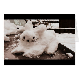 Hoppy Holidays Snow Bunny Card