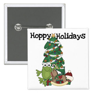 Hoppy Holidays Tshirts and Gifts Button