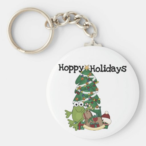 Hoppy Holidays Tshirts and Gifts Key Chain