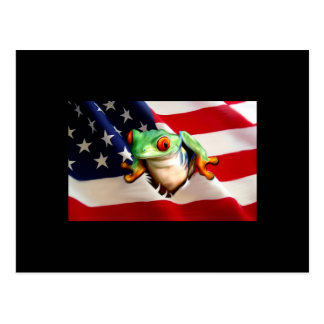 Hoppy Independence Day ACEO Art Trading Card