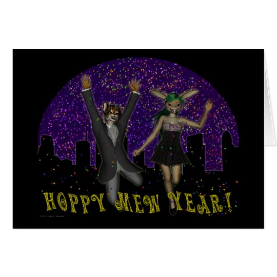 Hoppy Mew Year Card