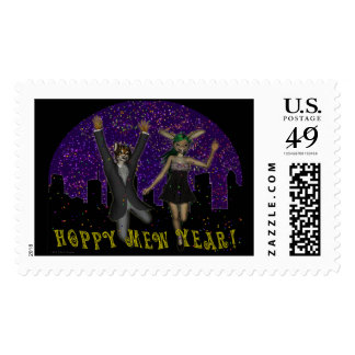 Hoppy Mew Year Large Postage
