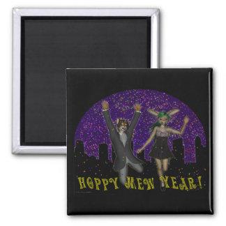 Hoppy Mew Year Magnet