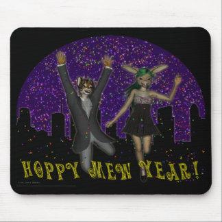 Hoppy Mew Year Mousepad