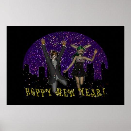 Hoppy Mew Year Poster