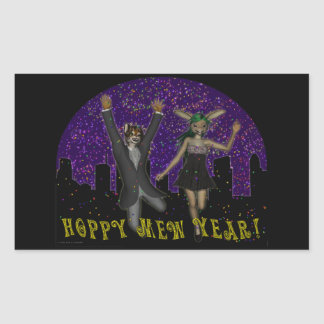 Hoppy Mew Year Rectangle Sticker