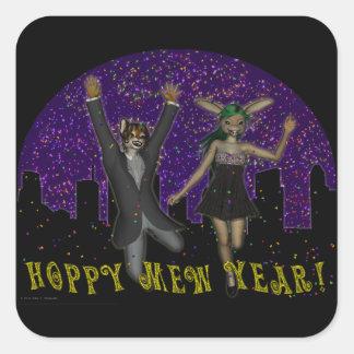 Hoppy Mew Year Square Sticker