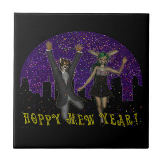Hoppy Mew Year Tile