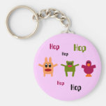 Hoppy Monsters Hop Hop Pink Keychain