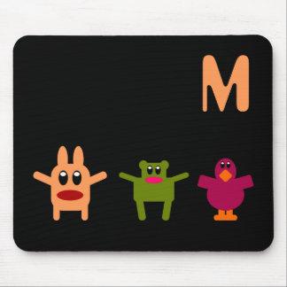 Hoppy Monsters Monogram Mousepad M