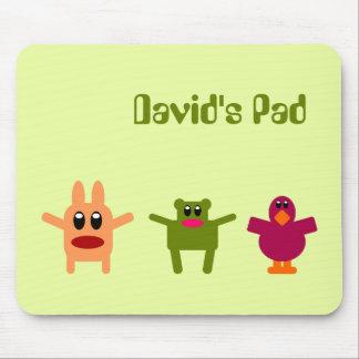 Hoppy Monsters Name Mousepad David