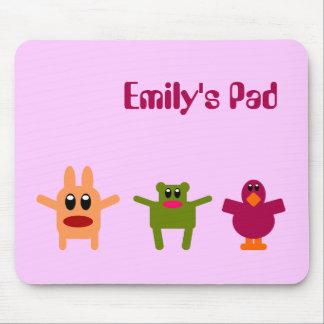 Hoppy Monsters Name Mousepad Emily