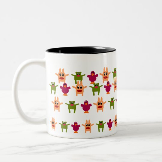 Hoppy Monsters Pattern Coffee Mug