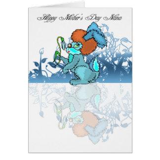 Hoppy Mother's Day Nana, Mothering Sunday Greeting Card
