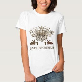 HOPPY OKTOBERFEST BEER KEG, BUNNY HOPS AND BIER TEE SHIRT