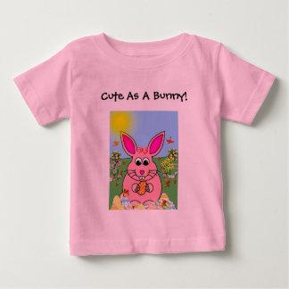 Hoppy Pink Bunny Day Baby T-Shirt