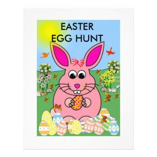 Hoppy Pink Bunny Day Flyer