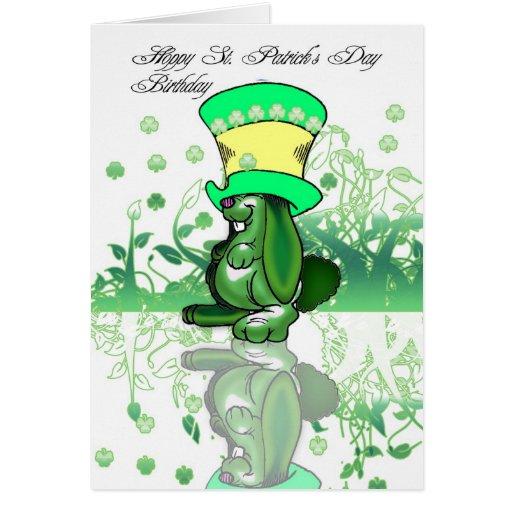 Hoppy St. Patrick's Day Birthday, Saint Patrick's Greeting Card