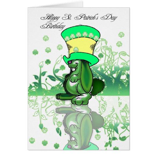 Hoppy St. Patrick's Day Birthday, Saint Patrick's Card