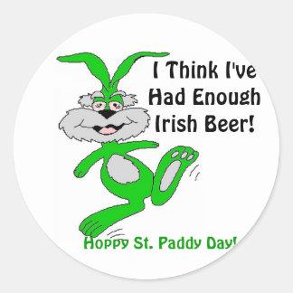 Hoppy St. Patrick's Day! - Designer Sticker