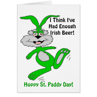 Hoppy St. Patrick's Day! - Greeting Card