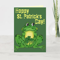 Hoppy St. Patrick's Day - Hoppy Frog Card